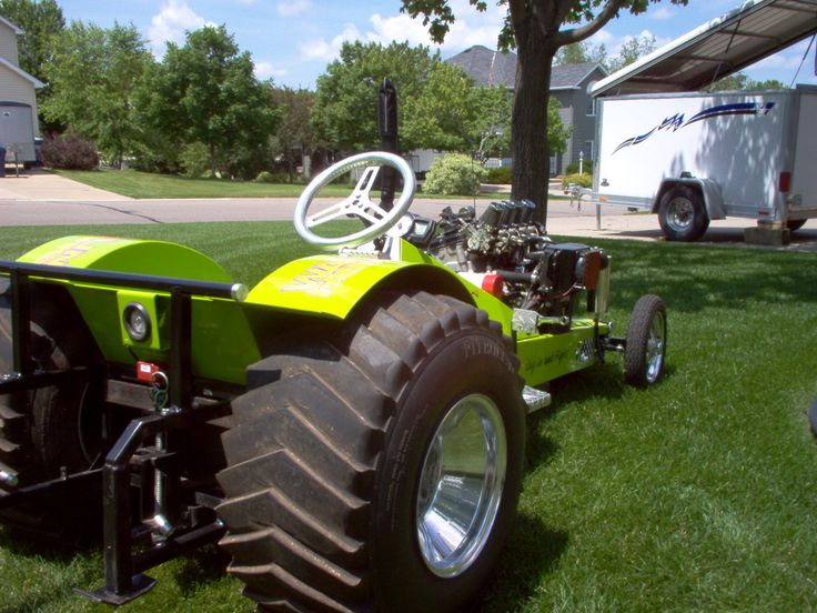 Super Modified Garden Pulling Tractor Powered By A 126 H P