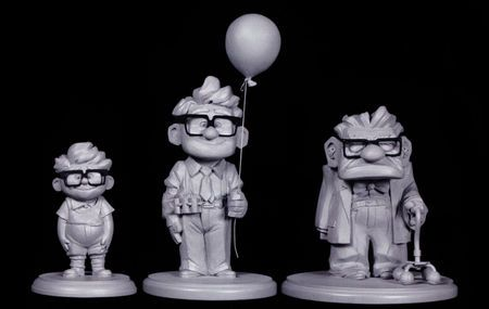 Carl Fredricksen Young - Old (Sculp)