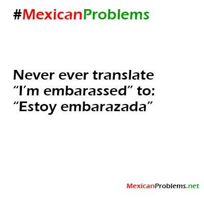 Mexican Problem #9234 - Mexican Problems...not a good thing to translate to especially in front of your parents