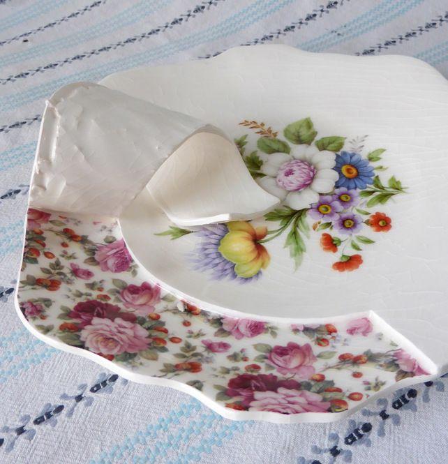 Under the Surface sculptural porcelain plate
