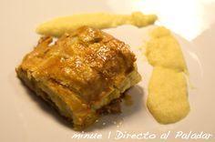 Solomillo de cerdo al hojaldre con salsa de manzana: Receta del solomillo al hojaldre con fotos, elaboración y degustación de esta receta de Navi...