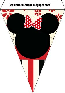Kit Festa Minnie Vermelha Para Imprimir Grátis Banner Minnie Mouse free