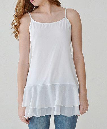 Look what I found on #zulily! White Chiffon Shirt Extender #zulilyfinds