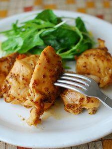 鶏胸肉の味噌ハニーマスタード