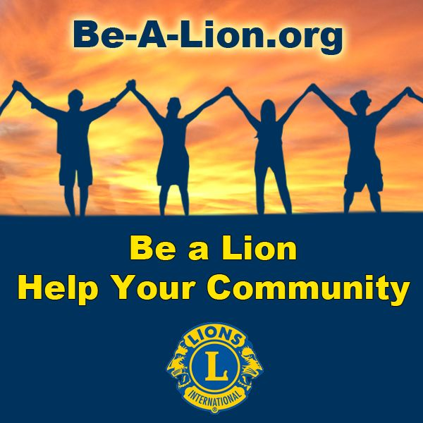 Be a Lioin, Help Your Community