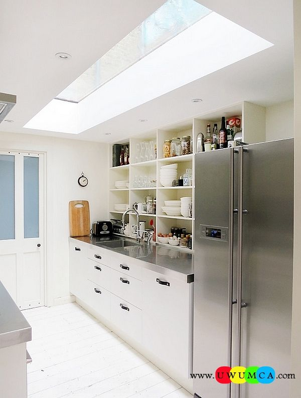 Kitchen:How To Clean Stainless Steel Kitchen Appliances Sinks Utensils Best Countertops Island Carts Table Chairs Dining Room Worktops Small Modern Kitchen With A Skylight How to Clean Stainless Steel for a Sparkling Kitchen Appliances and Sinks then Utensils