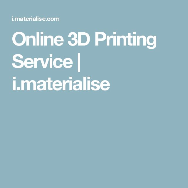 Online 3D Printing Service | i.materialise