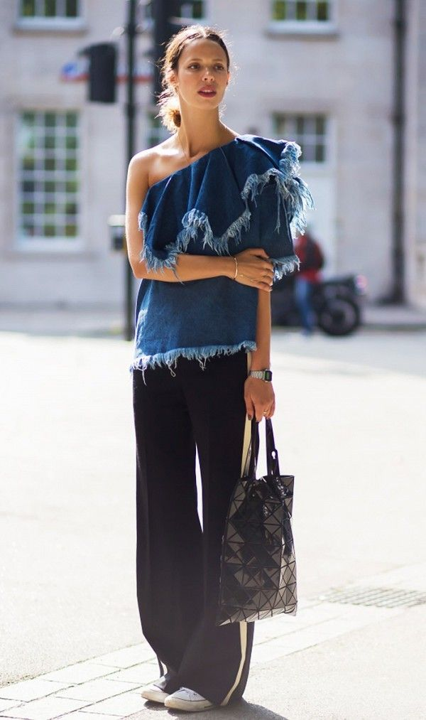 Denim Top + Trousers