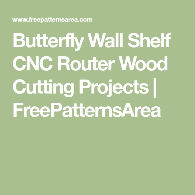 Butterfly Wall Shelf CNC Router Wood Cutting Projects   FreePatternsArea