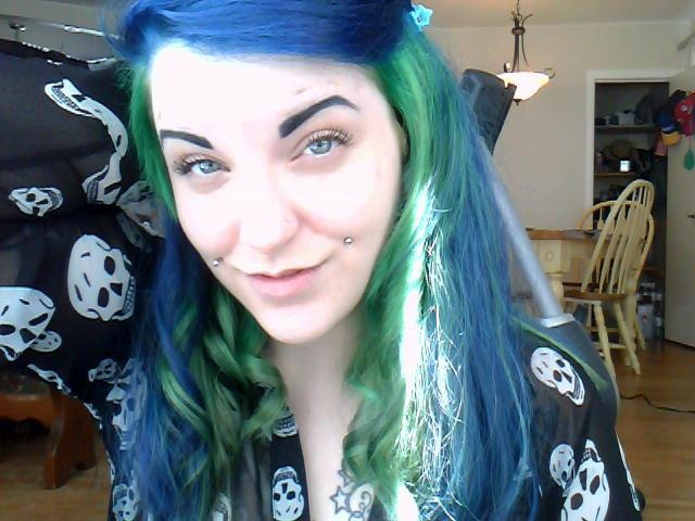 my blue and green hair <3 KLego