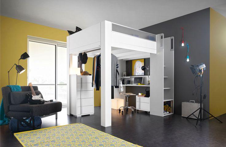 lit mezzanine collection dimix fabricant de meubles. Black Bedroom Furniture Sets. Home Design Ideas