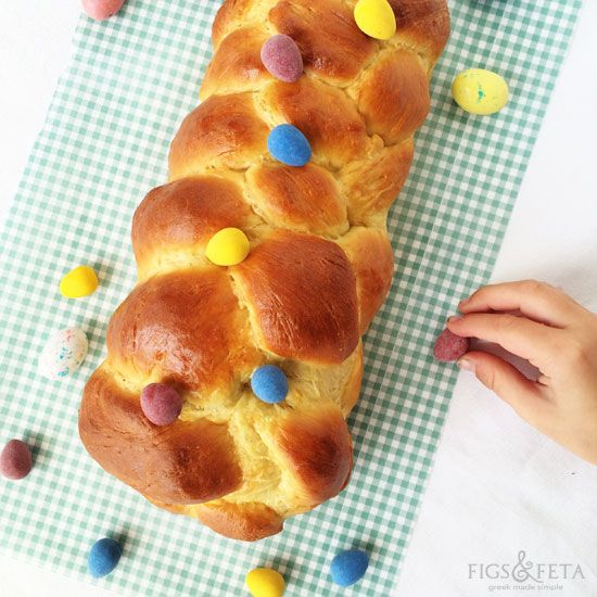 Traditional and sweet Greek Easter bread.