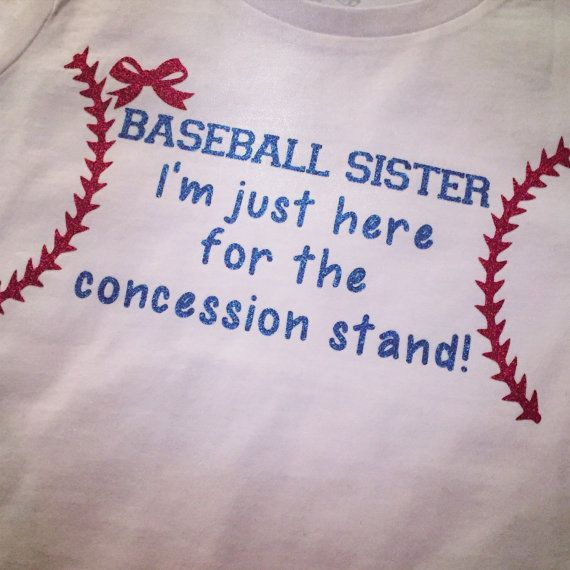 Baseball Sister I'm just here for the by KSMonogrammedGifts