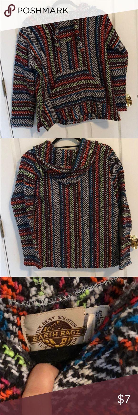 Colorful drug rug Never worn earth ragz Tops Sweatshirts & Hoodies