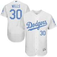 Dodgers #30 Maury Wills White Flexbase Collection 2016 Father's