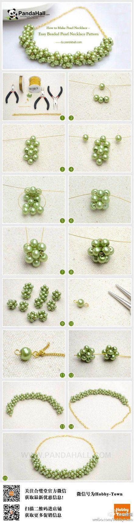 #DIY分享#用串珠制作属于自己的专属项链,快来试试吧~