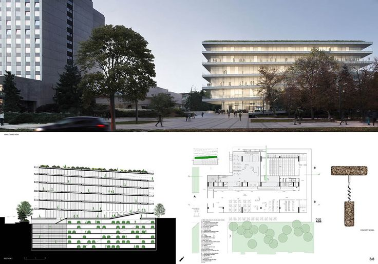2nd Prize - Library of Varna  Project by: I/O архитекти, BULGARIA