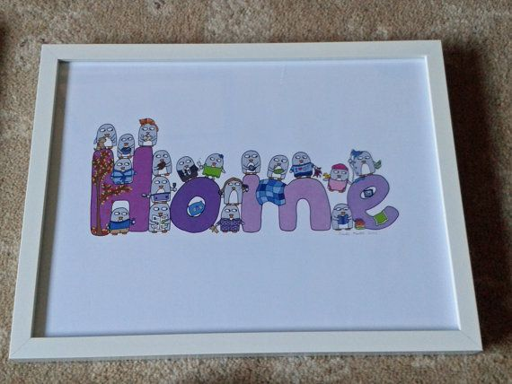 Mother's Day gift  Home Print  Penguins  by penguinparadeshop