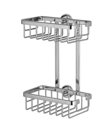 Good ALUXX Double Shower Caddy X X   Rustproof   Chrome. Includes No Drill  Mounting Hardware By Nie Wieder Bohren Germany
