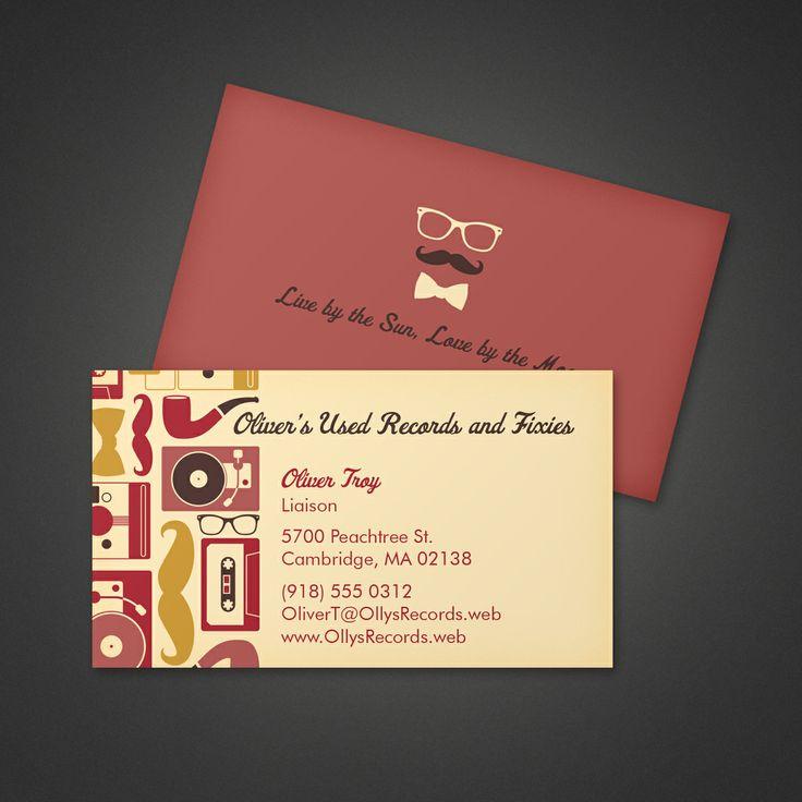 Hipster Business Card Vistaprint