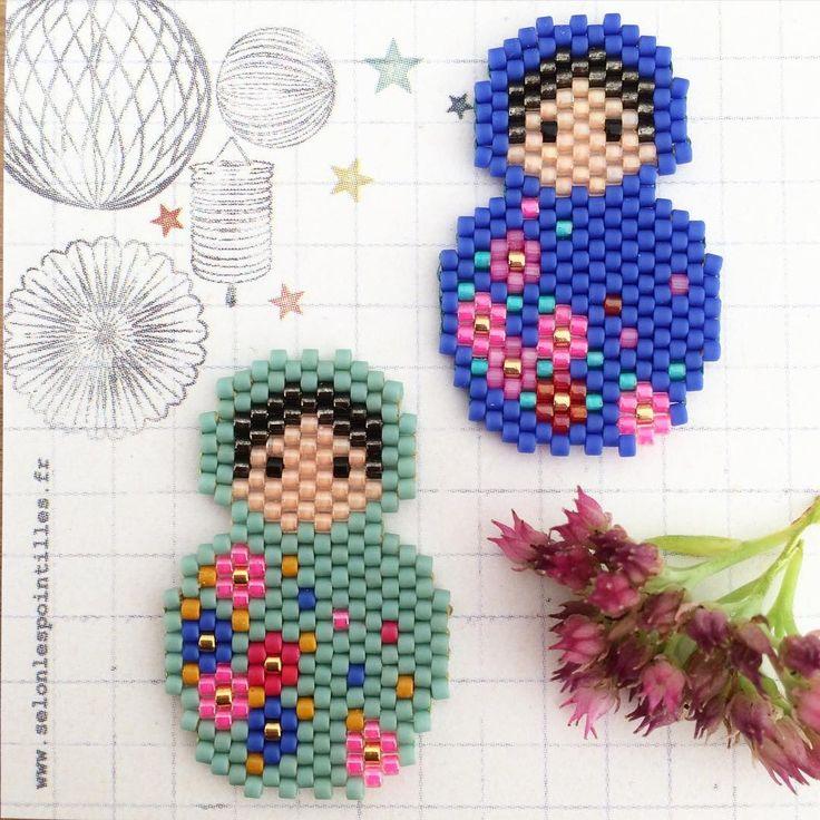 peyote brick stitch perles diy miyuki Instagram