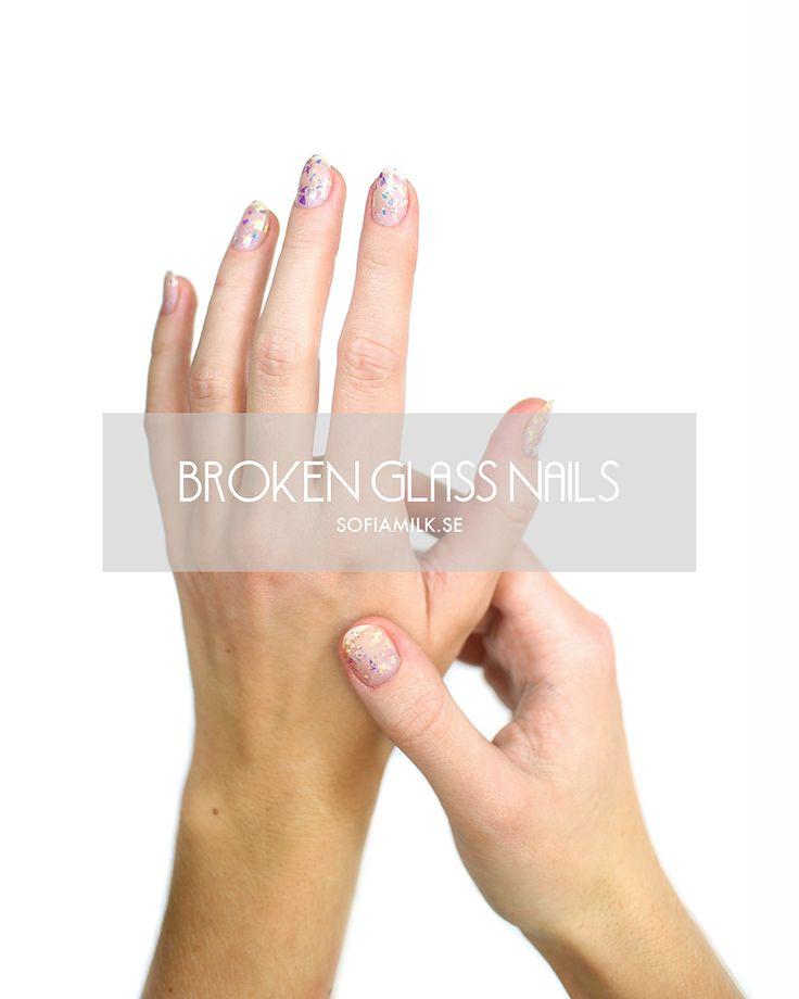 Broken Glass Nails av Sofia på Sofiamilk