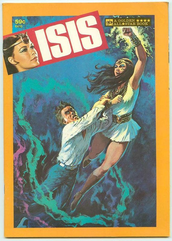 Oh Mighty Isis CBS Saturday Morning Live Action Filmation TV Golden All Star Book 1977 New Old Stock Mint (NOS), $25.00