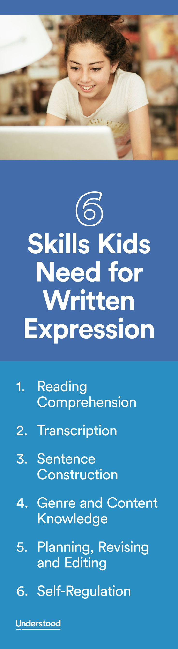 Writing skills operate at three levels: word, sentence and paragraph/whole text. By pinpointing trouble spots, you can get your child the right help to improve writing.