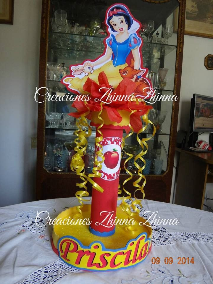 Beautiful snow white centerpiece party