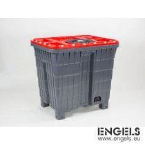 Multitank 420L compleet, grijze romp met rood deksel