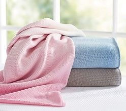 Swaddling Blankets & Embroidered Baby Blankets | Pottery Barn Kids