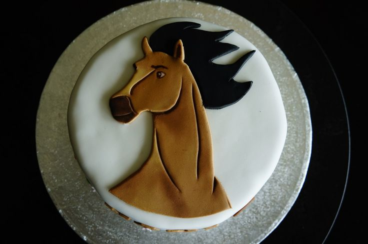 Spirit horse fondant  Disney Spirit Horse decoration in fondant