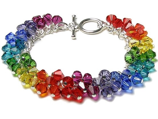 Karkötő inspiráció Swarovski Elements #5328 XILION Bead kristály gyöngyökből