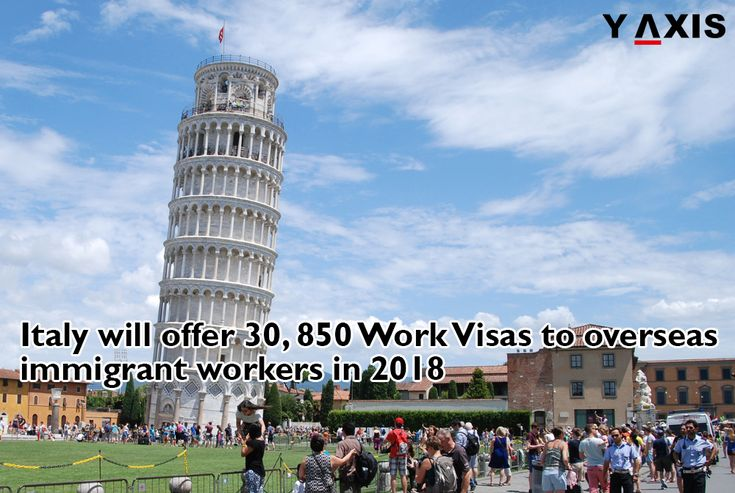 The Government of #Italy has announced that 30, 850 #WorkVisas will be offered to overseas immigrant workers in 2018 and these will be available for non-EEA nationals 18 January onwards. #ItalyImmigration #ItalyVisa #YAxisVisas #YAxisImmigration
