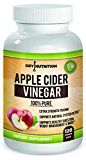 Apple Cider Vinegar 1500mg 100% Organic Pure & Raw  Healthy Blood Sugar  Weight Loss Digestion & Detox Support  60 day Supply.