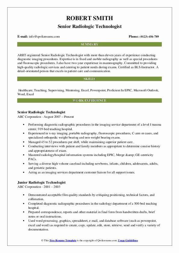 Radiologic Technologist Resume Examples Beautiful Radiologic Technologist Resume Samples In 2020 Teacher Resume Examples Business Analyst Resume Manager Resume