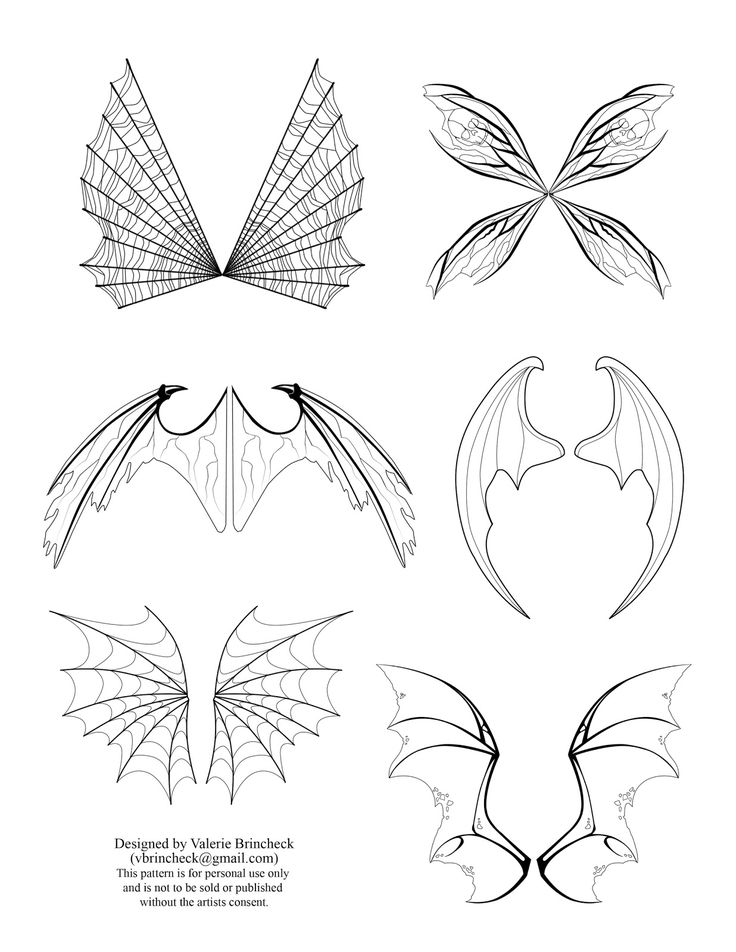 Fairy Wings Drawings | To download click on the picture to get a full size image. Right click ...