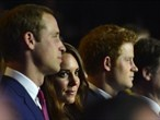 Prince William and Catherine watch the Opening Ceremony