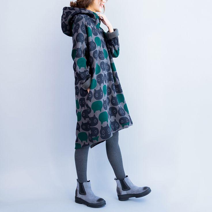 Плюс Размер Женщины Толстовки и Кофты Зима Утолщение Теплый Хлопок Мода Кошка Печати Большой Размер Повседневная Водолазка Платье купить на AliExpress