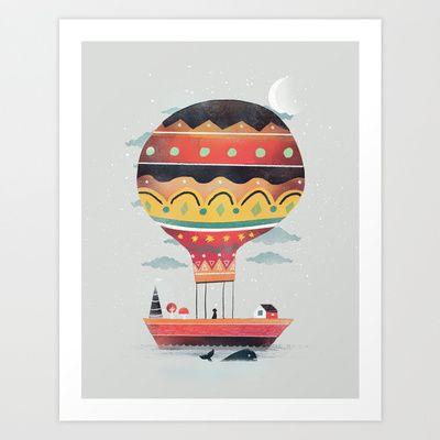 Fly me to the Moon Art Print by dan elijah g. fajardo - $15.60