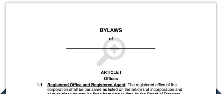 Free Corporation Bylaws - Corporate bylaws template Business - Bylaws Templates