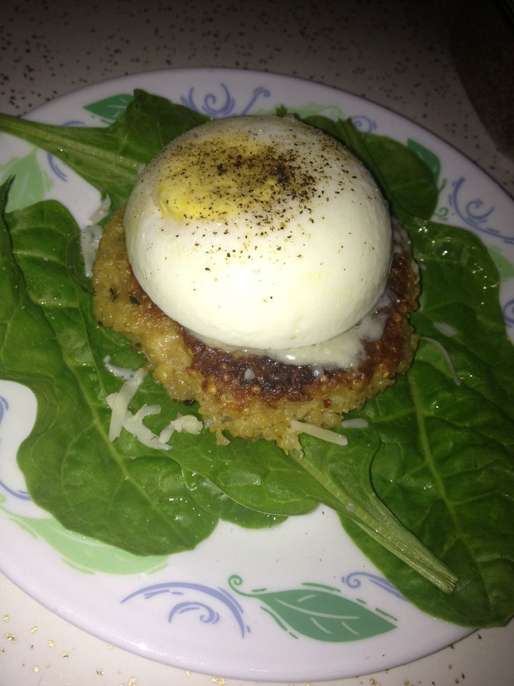 Quinoa Patties With Eggs And Spinach Pesto Recipes — Dishmaps