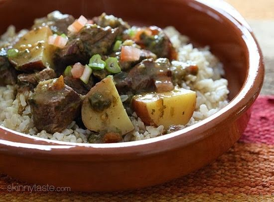 263 cal Crock Pot Carne Guisada (Latin Beef Stew) | Skinnytaste