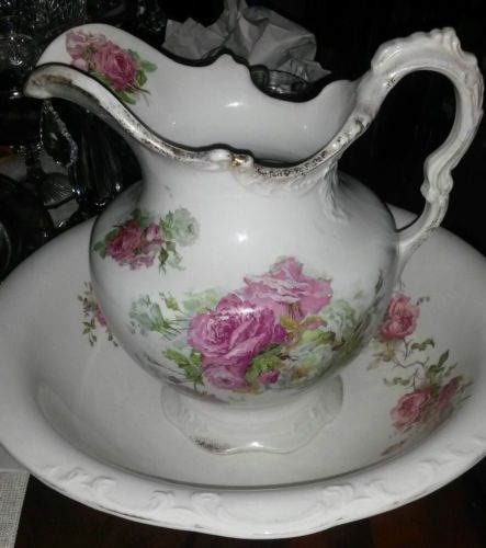 Antique Bowl And Pitcher At Home Pitchers Pinterest Bowls Ebay Basin