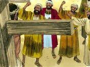 Jesus crucifixion story scenes