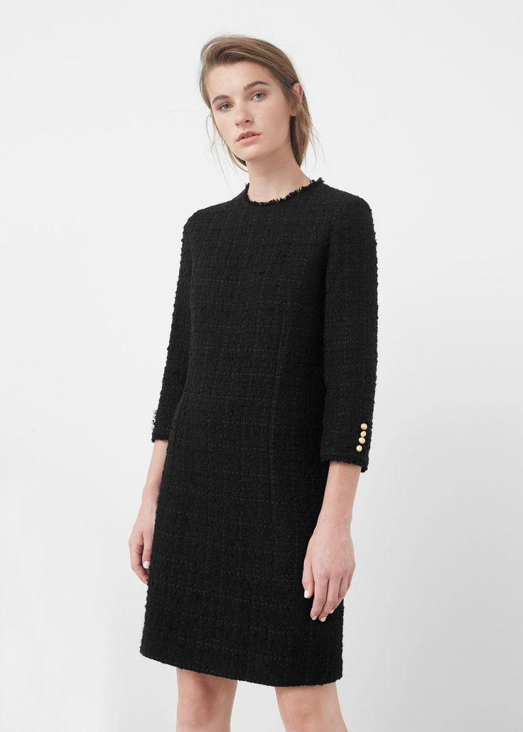 Vestido recto textura | MNG