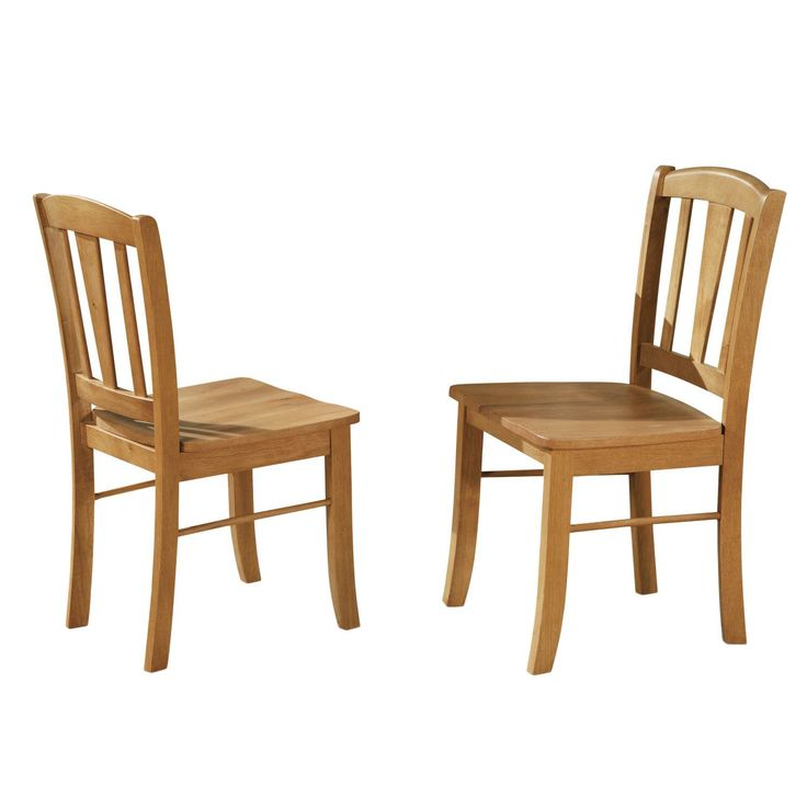 Dublin Wooden Seat Dining Chair (Set Of 2) (Oak Wood Seat)