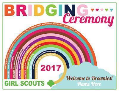 Girl Scout Custom Bridging Ceremony Certificate