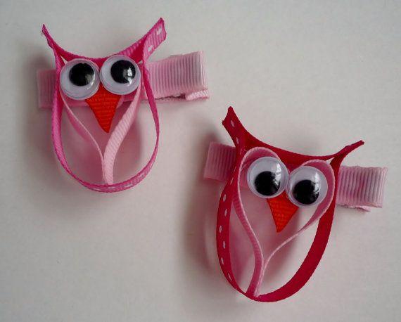 Owl ribbon sculpture