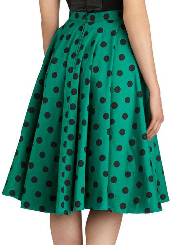 Dance and Swing Skirt in Emerald, #ModCloth